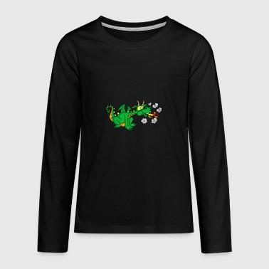 Green dragon - Teenagers' Premium Longsleeve Shirt