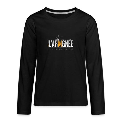 L'Araignée, le logo clair pour fond foncés - T-shirt manches longues Premium Ado