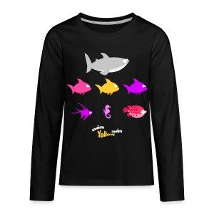 Swim! Yellow! Swim! - Teenager Premium shirt met lange mouwen