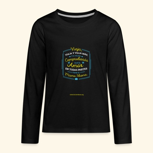 VIAJA - Camiseta de manga larga premium adolescente