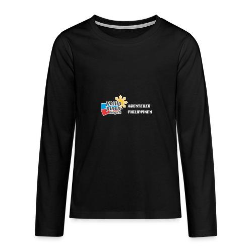 Philippinen-Blog Logo deutsch schwarz/weiss - Teenager Premium Langarmshirt