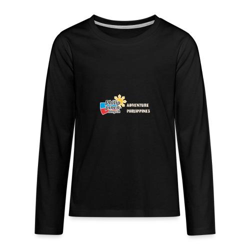 Philippinen-Blog Logo english orange/weiss - Teenager Premium Langarmshirt