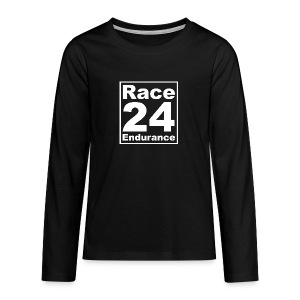 Race24 Logo - White - Teenagers' Premium Longsleeve Shirt
