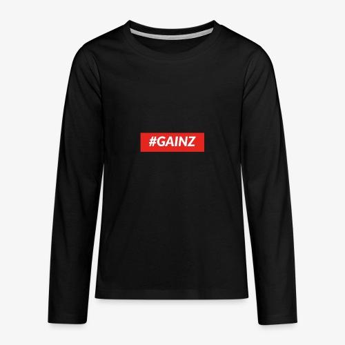 Gainz by Simon Mathis - Teenager Premium Langarmshirt