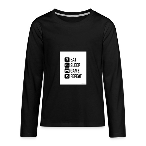 Eat Sleep Game Repeat Collection - Teenagers' Premium Longsleeve Shirt
