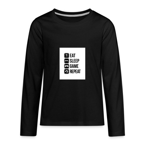Eat Sleep Game Repeat Collection - Teenagers' Premium Longsleeve Shirt