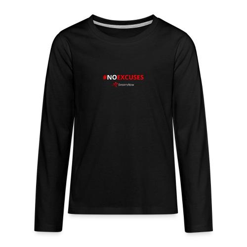 #NoExcuses - Teenager Premium Langarmshirt