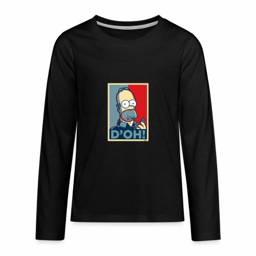 Homer Donuts - T-shirt manches longues Premium Ado