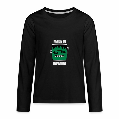 Fonster weiß made in Bavaria - Teenager Premium Langarmshirt