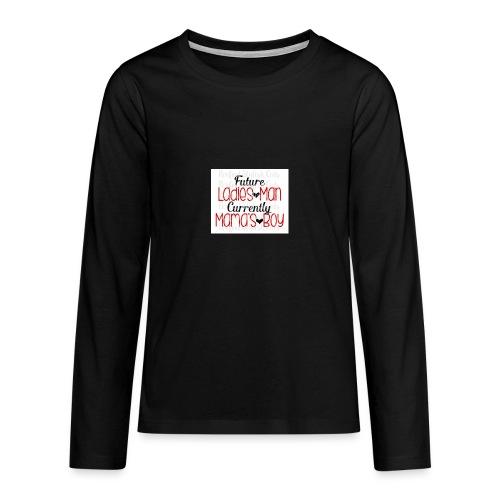 ladies man - Teinien premium pitkähihainen t-paita
