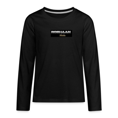 RoshaanRa GreyLogo - Teenagers' Premium Longsleeve Shirt