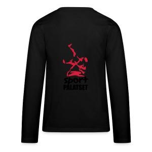 Motiv med svart och röd logga - Långärmad premium-T-shirt tonåring