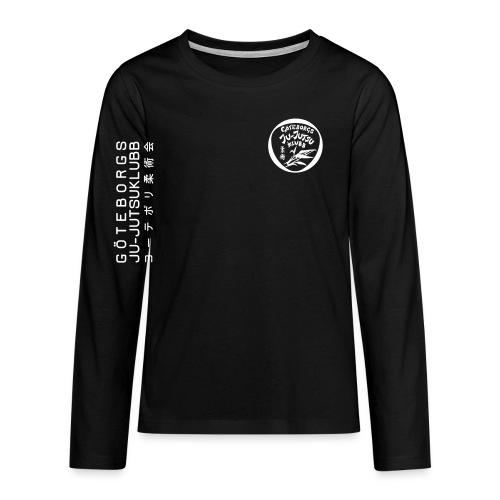 rygg centrerad tshirt hoodjacka troeja - Långärmad premium T-shirt tonåring