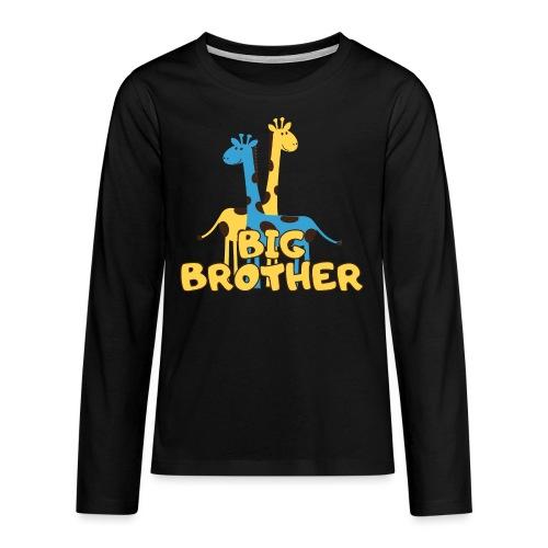 big brother giraffe babyparty shirt - Teenager Premium Langarmshirt