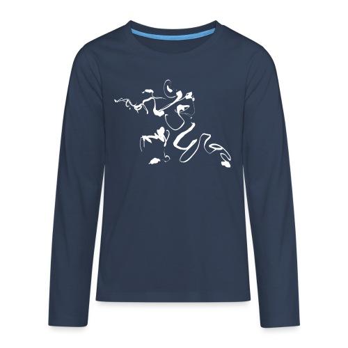 Kungfu - Deepstance Kung-fu figure - Teenagers' Premium Longsleeve Shirt