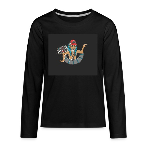 Hip Hop Dancing Pharaoh black background - Teenagers' Premium Longsleeve Shirt