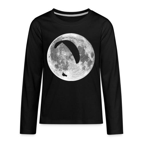 Paragleiter im Mond - Teenager Premium Langarmshirt
