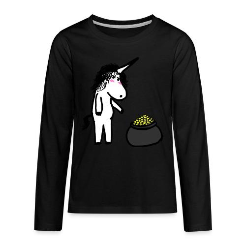 Oro unicorno - Maglietta Premium a manica lunga per teenager