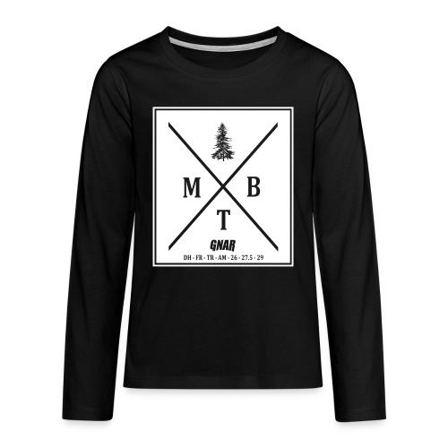 Block MTB wht pic - Teenagers' Premium Longsleeve Shirt
