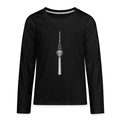 La tour de télévision de Berlin c - T-shirt manches longues Premium Ado