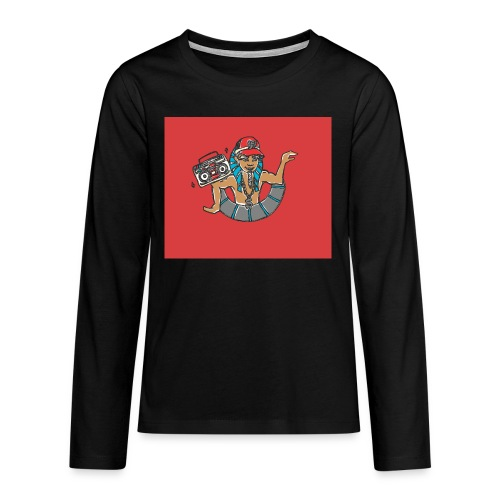 Hip Hop Dancing Pharaoh red background - Teenagers' Premium Longsleeve Shirt