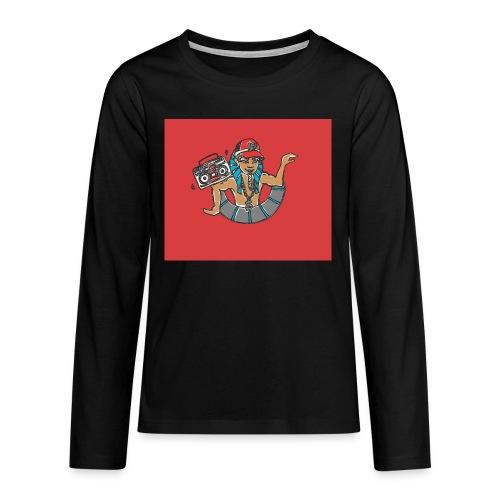 Hip Hop Dancing Pharaoh red background - Teenagers' Premium Longsleeve Shirt