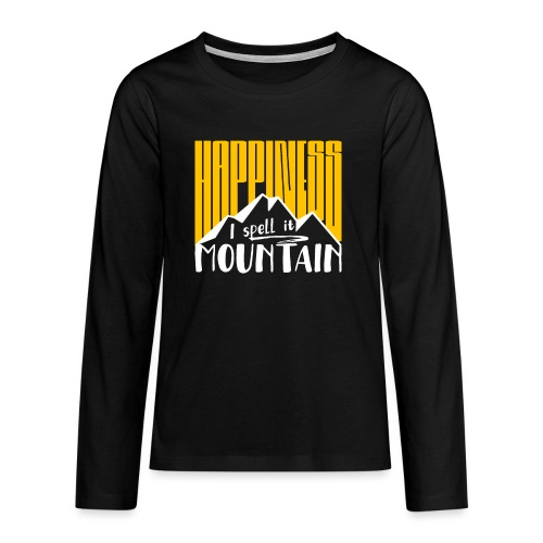 Happiness I spell it Mountain Outdoor Wandern Berg - Teenager Premium Langarmshirt