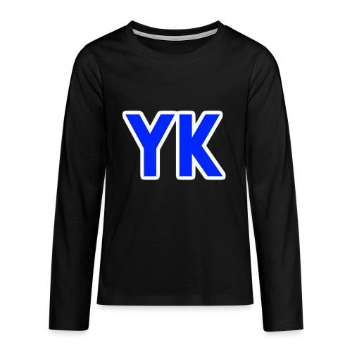 yk ontwerp png - Teenagers' Premium Longsleeve Shirt