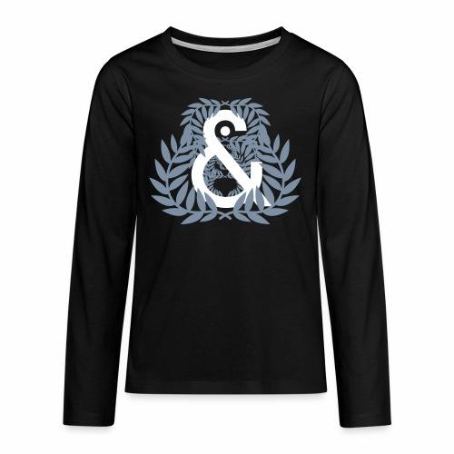 Aureola & ... - Camiseta de manga larga premium adolescente