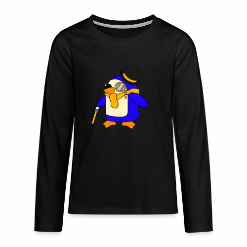 Cute Posh Sunny Yellow Penguin - Teenagers' Premium Longsleeve Shirt