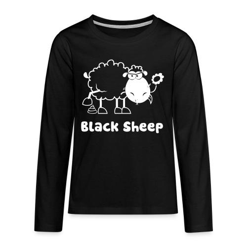 Schwarzes Schaf, Black Sheep - Teenager Premium Langarmshirt