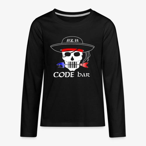 Code Bar white - T-shirt manches longues Premium Ado