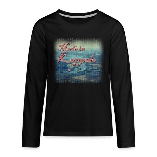Made in Koppelo lippis - Teinien premium pitkähihainen t-paita