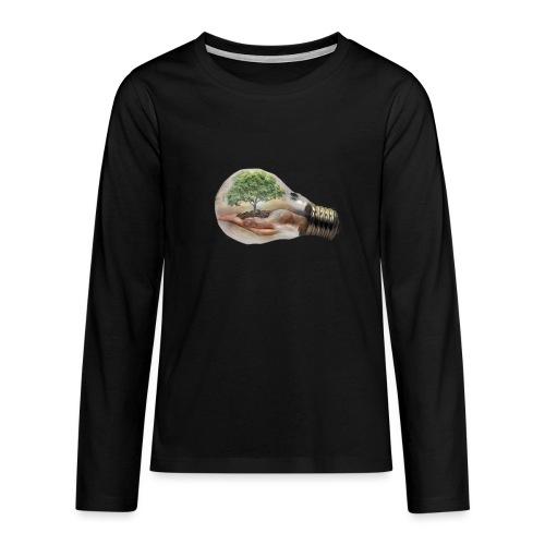 Baum und fliege in einer Glühbirne Geschenkidee - Teenager Premium Langarmshirt