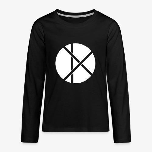Don Logo - valkoinen - Teinien premium pitkähihainen t-paita