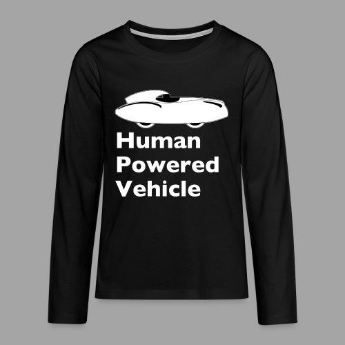 Quattrovelo Human Powered Vehicle white - Teinien premium pitkähihainen t-paita
