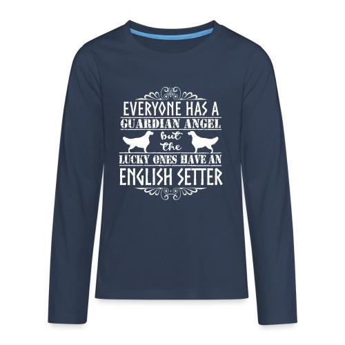 English Setter Angels - Teinien premium pitkähihainen t-paita