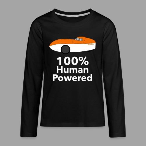 Human Powered WAW - Teinien premium pitkähihainen t-paita