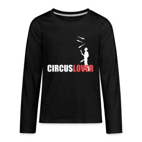 Circuslover 5 clubs - Maglietta Premium a manica lunga per teenager