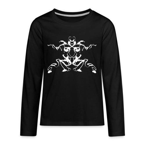 Rorschach test of a Shaolin figure Tigerstyle - Teenagers' Premium Longsleeve Shirt