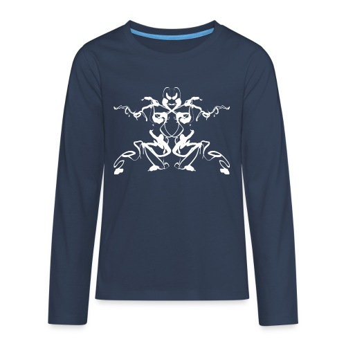 Rorschach test of a Shaolin figure Tigerstyle - Teenagers' Premium Longsleeve Shirt