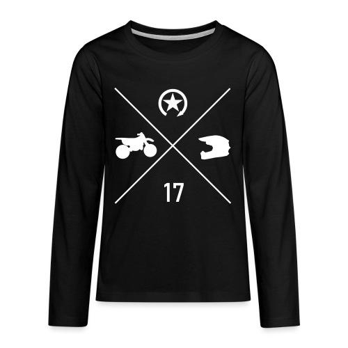 BIKE N HELMET 17 we - Teenagers' Premium Longsleeve Shirt