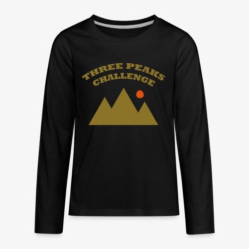 Three Peaks Challenge - Teenagers' Premium Longsleeve Shirt