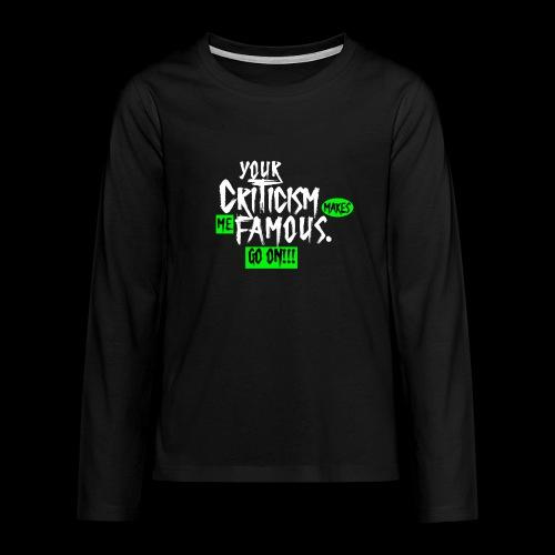 CRITICA 2 - Camiseta de manga larga premium adolescente