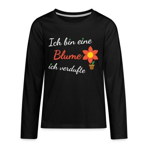 Blume Garten Gärtner Florist Shirt Geschenk - Teenager Premium Langarmshirt