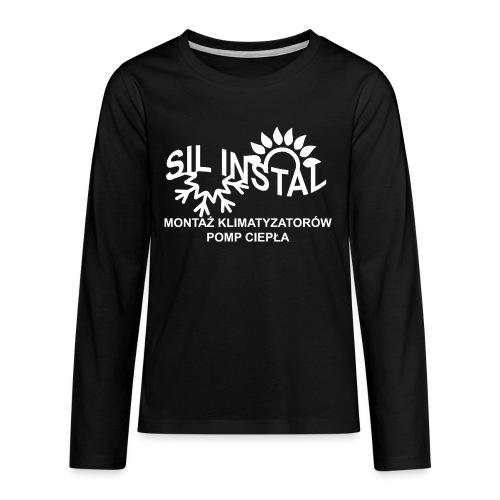 sil instal - Koszulka Premium z długim rękawem dla nastolatków