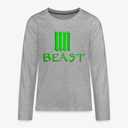 Beast Green - Teenagers' Premium Longsleeve Shirt