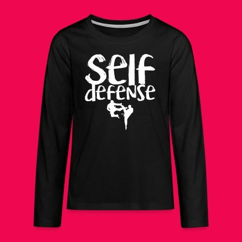 Self Defense 1.0 - Teenager Premium Langarmshirt