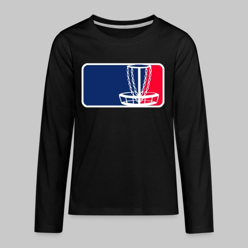 Disc golf - Teinien premium pitkähihainen t-paita