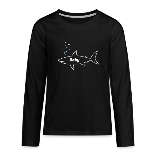 Baby shark - Fathers Day gift - Matching outfit - Teenager Premium Langarmshirt